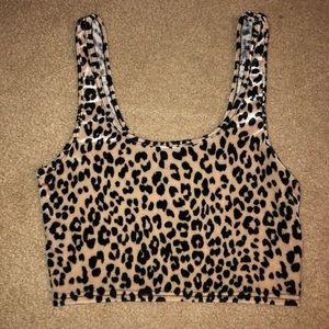 Forever 21 leopard velvet crop top